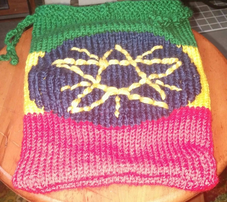 Bag 2 cords Ethiopia flag