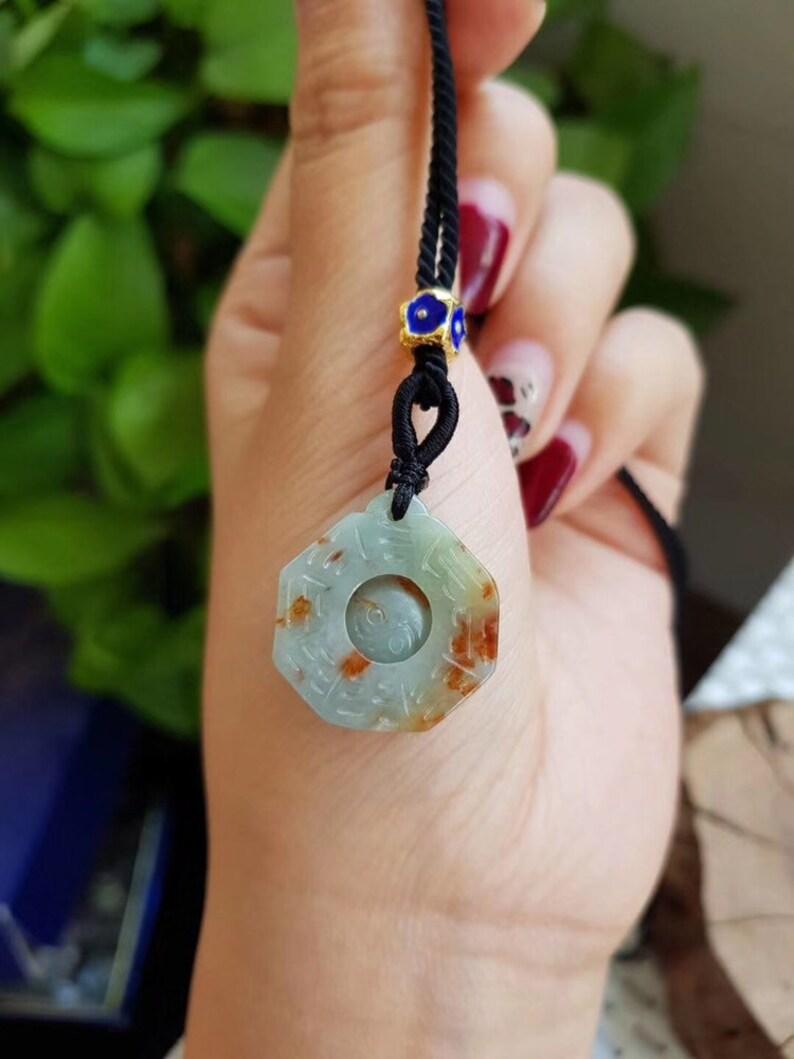 GOOD LUCK WHEEL Myanmar Unique Jadeite necklace
