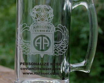 Personalized 82ND AIRBORNE DIVISION, JUMPMASTER Beer Mug, Military Gift, 27.25oz