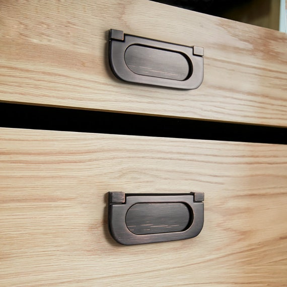 Cabinet drawer drawer drawer wardrobe invisible handle cabinet door secret handle simple hand pull handle R20