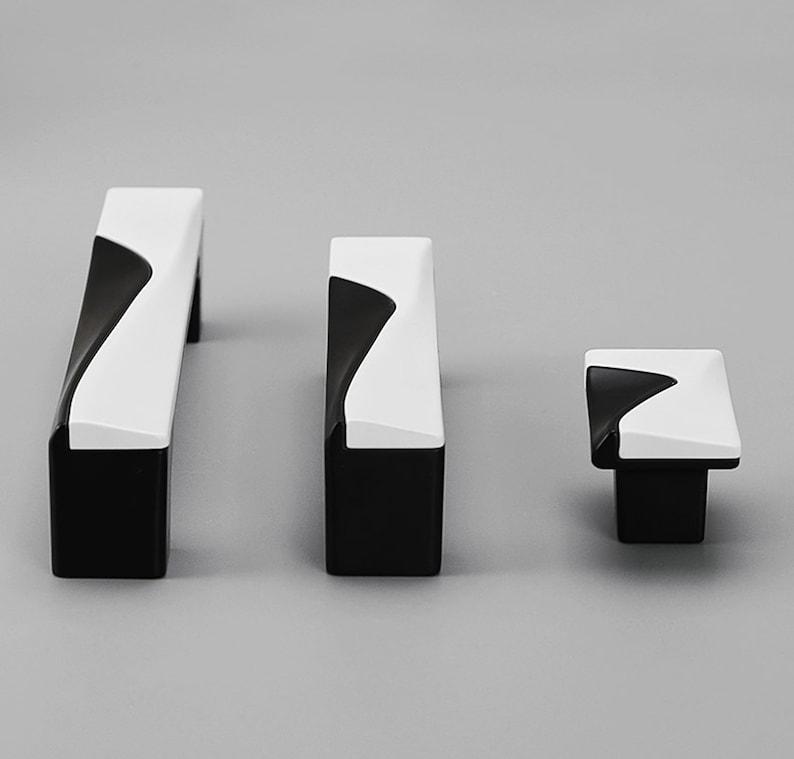 Modern Simple American Cabinet Door Handles Nordic Wardrobe White Black Cabinet Drawer Single Hole Handles R513
