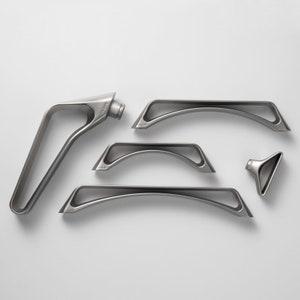 Modern Simple European Wardrobe Cabinet Handle Silver White Cabinet Door Handle pull handle R158
