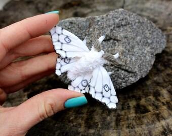Luna moth brooch, Polymer clay brooch, handmade art jewelry, butterfly boho jewelry, original jewelry gift for her