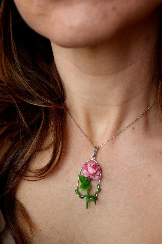 Cadena de ganchillo hecho a mano collares varios colores-nuevo gastos de envío gratis