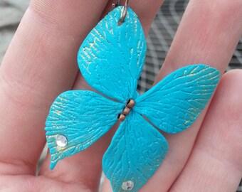 Polymer Butterfly Earrings - Butterfly Handmade Jewelry,  Butterfly Earrings