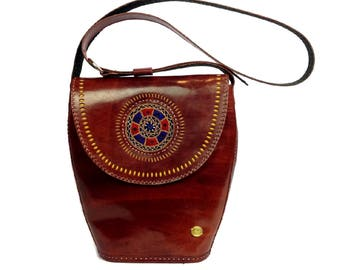 leather Boho shoulder bag 2a687fb8b9e9a