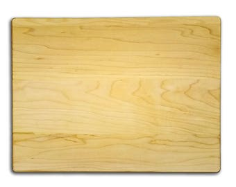 "Quality 9"" x 12"" x 3/4"" thick maple cutting board - Kitchen supply, crafting, etching, wood burning."