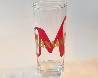 Monogrammed Shot glass with Name , Custom Personalized Tequilla Shooter