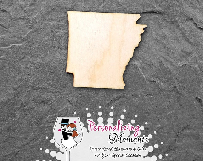 Arkansas - Unfinished Laser Cut Shape, DIY Craft Supplies, Woodworking, Kids Crafts, Blanks, Many Sizes - FREE SHIPPING
