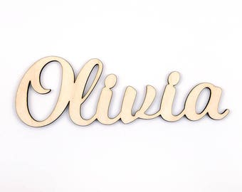 Custom Wood Word, Wooden Name, Custom Laser Cut Wood Name, Nursery Decor, DIY Laser Cut Wood Shapes, 1/8 inch birch wall art
