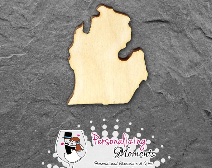 Michigan - Unfinished Laser Cut Shape, DIY Craft Supplies, Woodworking, Kids Crafts, Blanks, Many Sizes - FREE SHIPPING