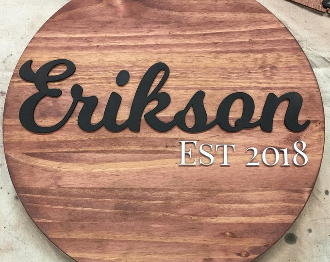 Home / Wedding / Family Decor - Custom Personalized Sign - Wooden Family Name - FREE DOMESTIC SHIPPING