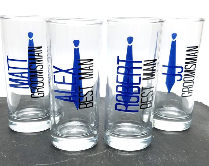 Personalized Groomsman Shot Glass, Groomsman Shot Glass, Shot Glass, Best Man, Bachelor Party, Mans Shot Glass - FREE SHIPPING