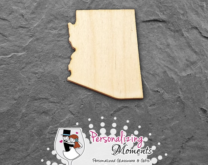 Arizona - Unfinished Laser Cut Shape, DIY Craft Supplies, Woodworking, Kids Crafts, Blanks, Many Sizes - FREE SHIPPING