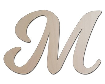Custom Laser Cut Wooden Letter - Unfinished Wood Letters, DIY Craft Supply,  - Wall Art, Scrap booking - Nursery Decor