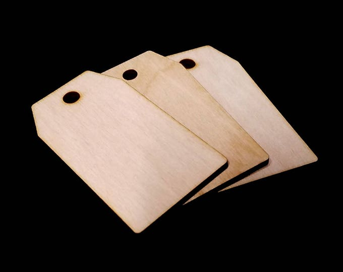 25 Wooden Luggage Tags - Craft Shapes, Gift Tags, Decor, Laser Cut, Wood Cut