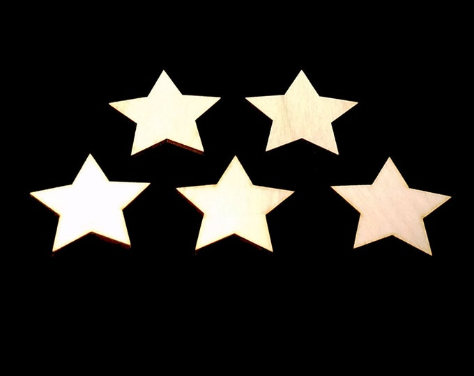 25 Wooden Star Shapes - Craft Shapes, Gift Tags, Decor, Laser Cut, Wood Cut