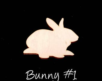 Set of 10 Easter Bunny Craft Supply - 1/8 inch thick laser cut rabbit shape, baltic birch ply - kids crafts, decoration, art - FREE SHIPPING