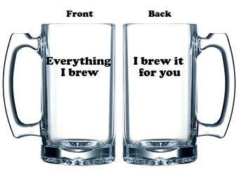 Funny beer Valentine gift for craft beer enthusiast vinyl or etched, double sided