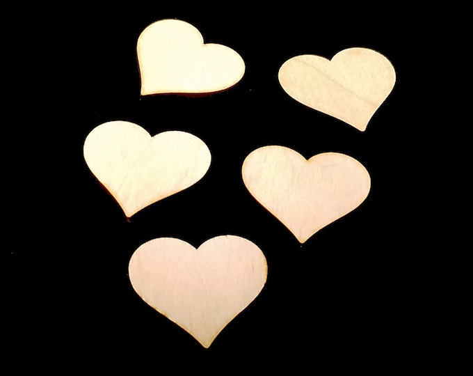 25 Wooden Heart Shapes - Craft Shapes, Gift Tags, Decor, Laser Cut, Wood Cut