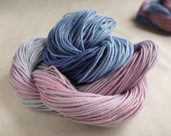 """Size 10, 15, 20, 40, 50, 70, Hand dyed thread, HDT,multycolor, HDT, tatting, crochet, embroider, lacemaking, craft thread, """"DevonRose"""""""