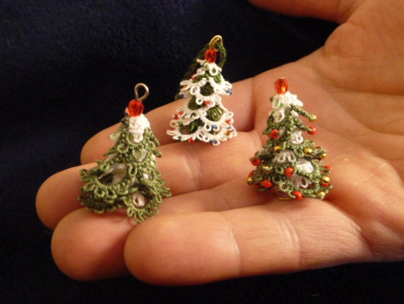 Tatted Christmas Tree Pattern Mini 3D Christmas Tree
