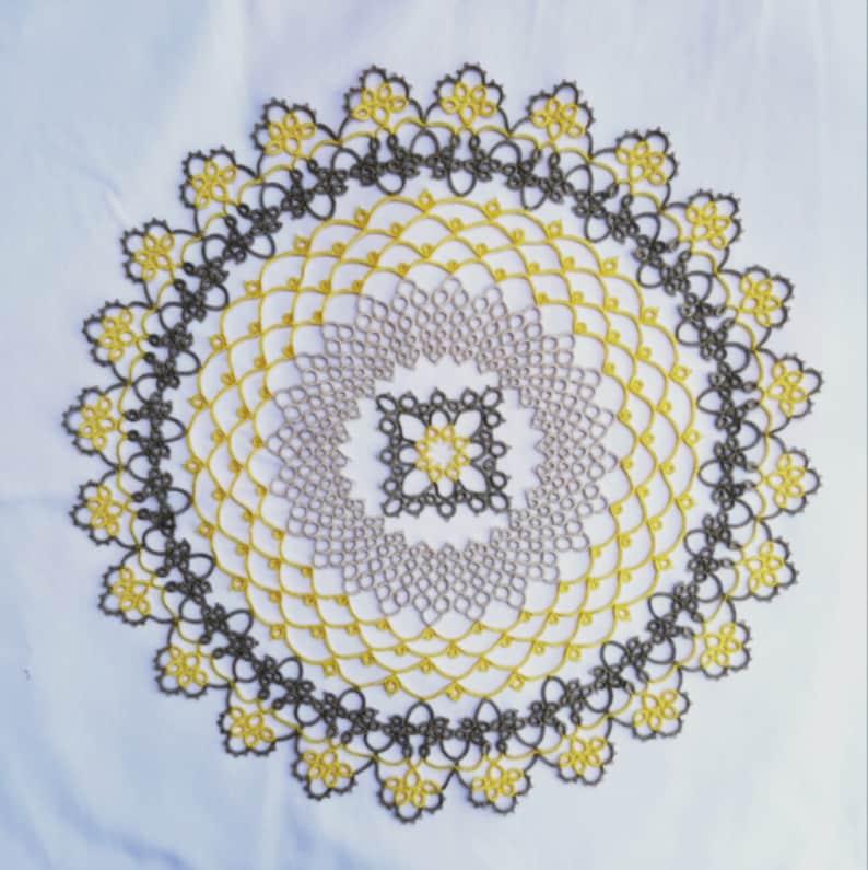 Solaris by Jon Yusoff Tatted doily visual e-pattern  lace image 1
