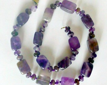 Beads handmade, ametyst , Necklaces ametyst , beaded ametyst, violet necklace, womens gift, gift for her, Jewelry