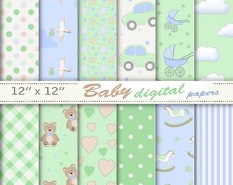 Green baby paper, green baby digital, green baby download, green baby boy paper, green baby pattern, texture, green baby scrapbook.