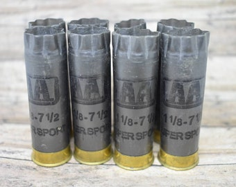 Shotgun Shells Lot of 8 - Gunmetal Gray/Brass Winchester 12 gauge Empty Shotgun Shells