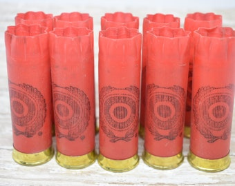 Shotgun Shells Lot of 10 - Red/Brass Estate 12 gauge Empty Shotgun Shells