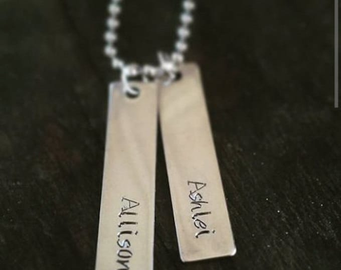 Personalized Hand Stamped Bar Name Necklace *Custom Necklace* *Name Necklace* *Bar Necklace