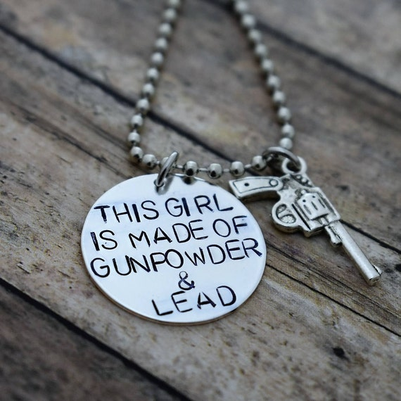 Gun powder and lead necklace