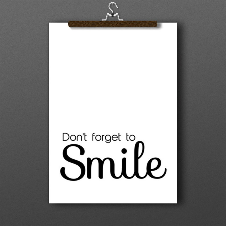 Smile Quotes Inspirational Quotes Dont Forget To Smile Etsy
