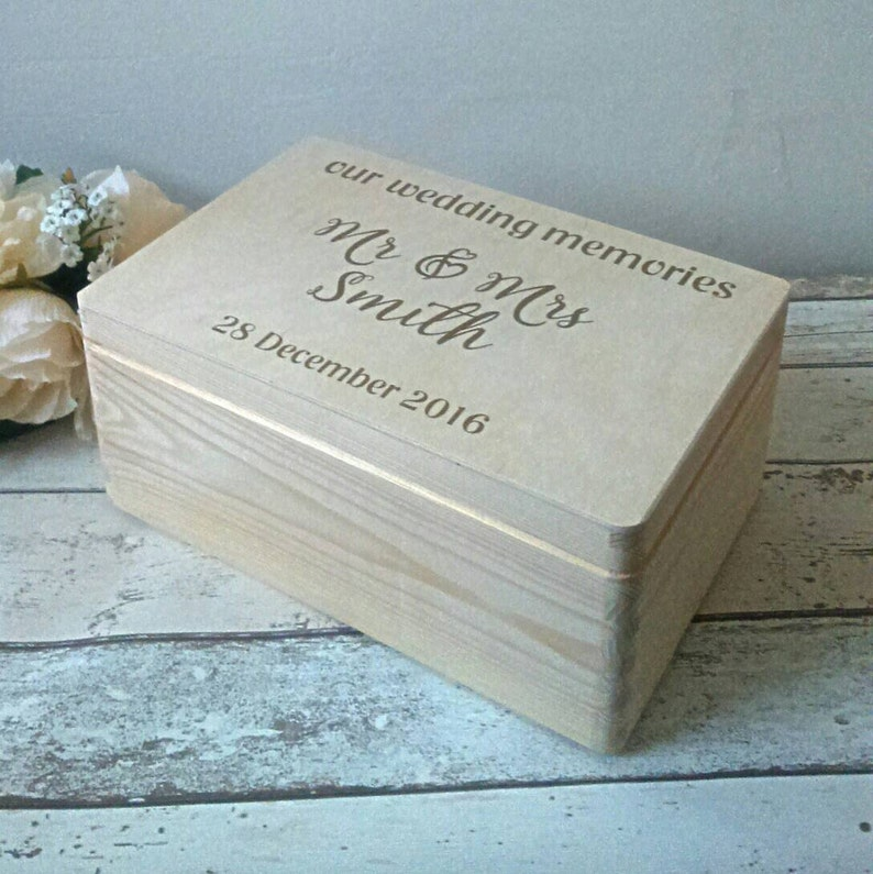 Wedding Memory Box Wedding Memories Wedding Keepsake Box Wedding Gift Personalised Wedding Gift Personalised Keepsake Bride And Groom
