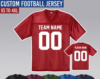 f01c08108 Custom Football Jersey      Customize it with Names and Numbers      XS -  4XL