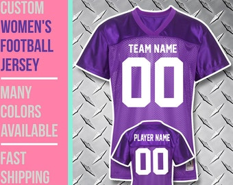 Custom Women's Football Fan Jersey //// Junior Fit //// Sizes S to 2XL