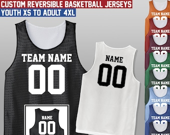 4a88b8167dff Custom Reversible Basketball Jersey   Youth and Adult Sizes   Mesh Tank  Jerseys   Uniform   Add Names and Numbers   Style - Jersey03