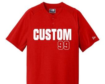 62720022218 Custom Baseball Jerseys / Two Buttons / Youth XS to Adult 4XL / Moisture  Wicking Jersey / Softball / T-Shirts / Style - Baseball03
