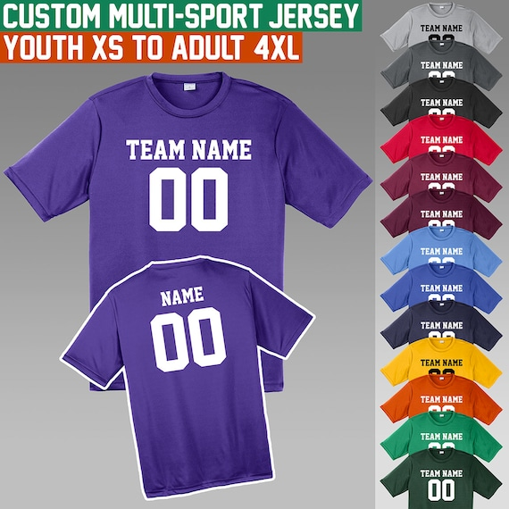 Custom Jerseys / XS to 4X / Youth and Adult Sizes / Moisture | Etsy