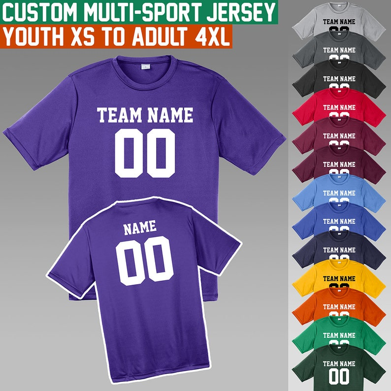 caf7f65d09410 Custom Jerseys   XS to 4X   Youth and Adult Sizes   Moisture