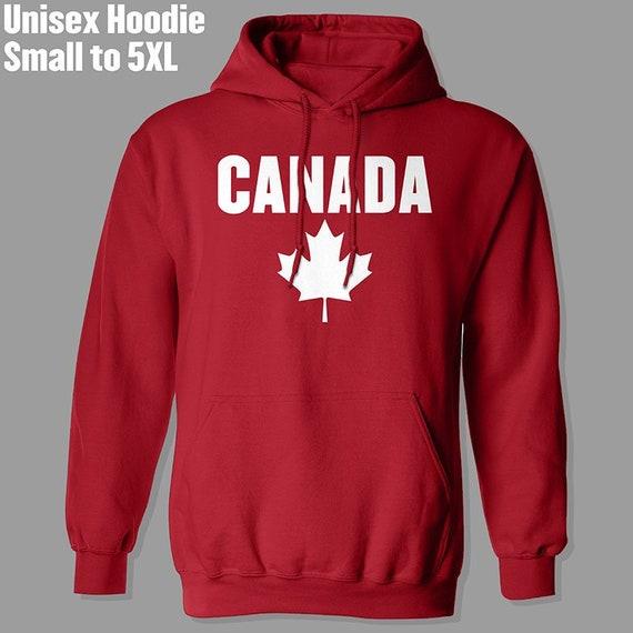 Trinidad Flag Canada Maple Leaf-1 Coat with Pockets Mens Pullover Sweatshirt Hoodie