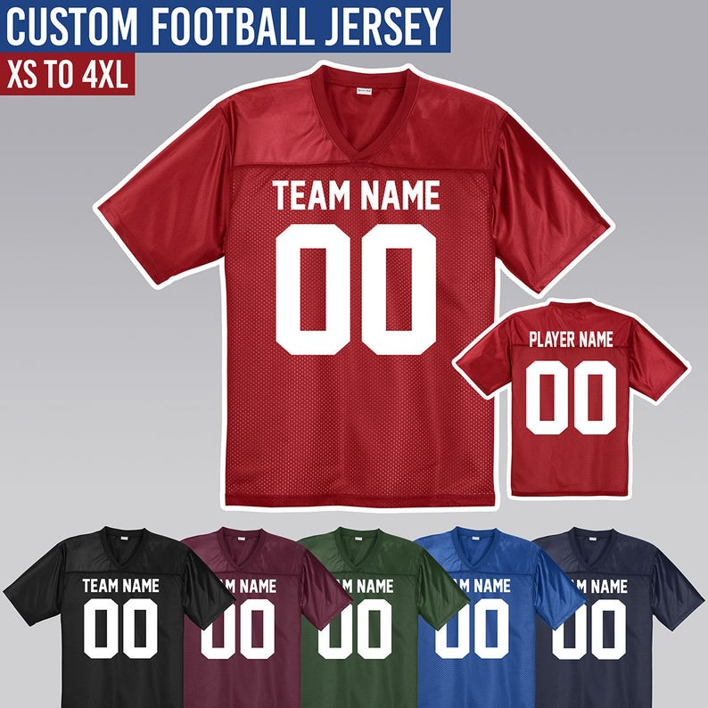 Custom Football Jersey      Customize it with Names and  ae56eac8d