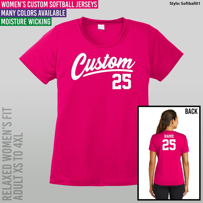 c2ac52aa30e Women s Custom Softball Jersey   Adult XS to 4XL