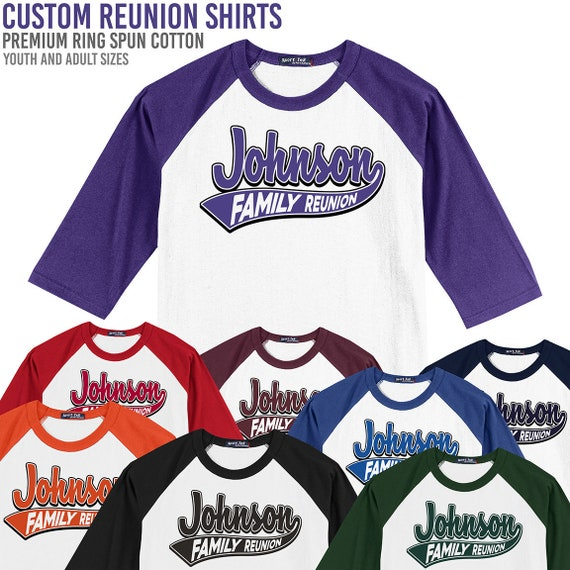 fc0dfb6a Custom Family Reunion T-Shirt //// Baseball Style Shirts //// | Etsy