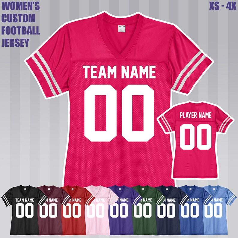Women s Custom Football Jersey   Adult XS to 4XL    43eabfe9f