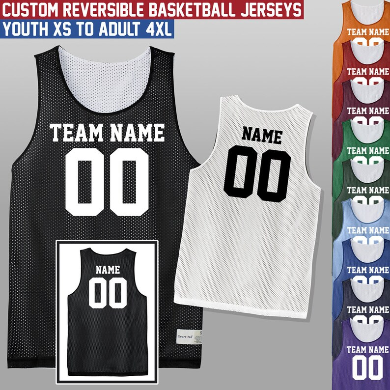 3d66406c3 Custom Reversible Basketball Jersey   Youth and Adult Sizes