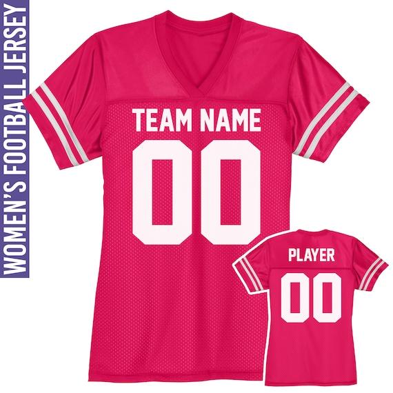 V-Neck Custom Football T-Shirt for Women S to 2X Jersey Bachelorette