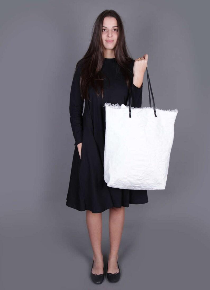 8908bf926b4 Large Canvas Tote, White Canvas Tote Bag, Oversized Tote, Shoulder Bag,  Shoulder Bag For Women, Boho Bag, Summer Tote Bag, Designer Handbag
