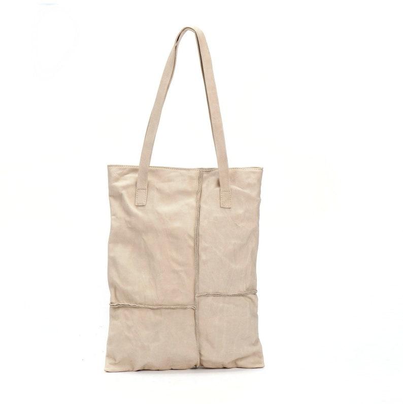 f48f10623b Womens Italian Leather Handbags Purse Cream Large Tote Bag